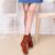 2016 mulheres Inverno botas de designer de moda senhoras sapatos de maré do sexo feminino casual plana ankle boots de outono cor sólida mulheres sapatos TAA48