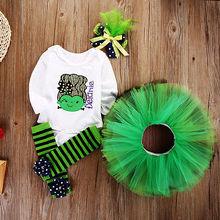 Baby Girl Cotton Romper Tutu Skirts Leg Warmers Halloween Outfits Set Costume UK