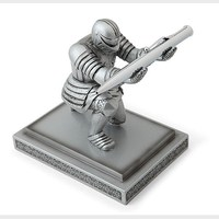 Creative Resin Art Craft Executive Knight Pen Holder Desktop Delicacy Decoration School Supplies Children's Day giftS Penholder