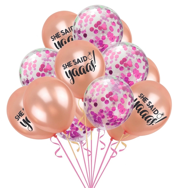 YORIWOO She Said Yaaas I Do Rose Gold Balloon Bride Wedding Team Bridal Shower Favors Hen Bachelorette Party Decorations To Be 4
