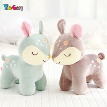 Cute Deer Plush Toy Soft Plush baby Doll Stuffed Animals Appease Toys Kids  Birthday Gifts Christmas Gifts Decoration Toy