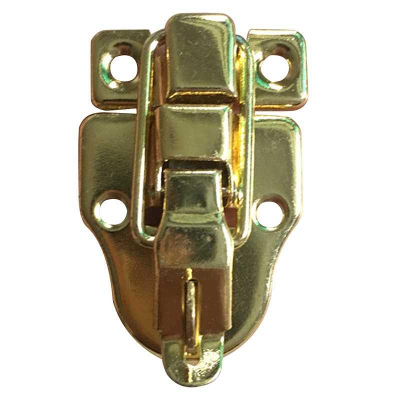 1 Pcs العتيقة مجوهرات نحاسية الصدر مربع حقيبة حالة جذع أبازيم تبديل غلق بمشبك اقبض مزلاج المشبك