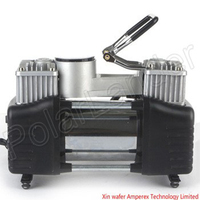 Multipurpose Car pump air compressor Air Pump power line 3 meters, with a barometer of expansion pipe car pump