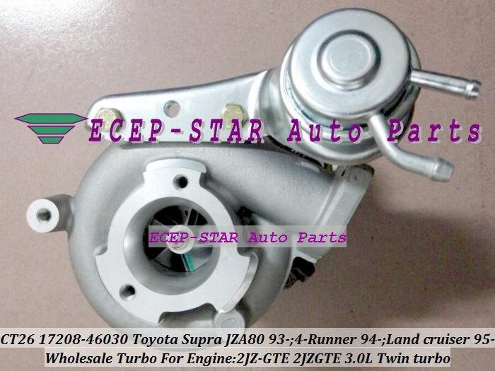 Только один Twin Turbo CT20 17208-46030 турбонагнетатель для тoyota Supra JZA80 1993-4-RUNNER 94-Land cruiser для детей ростом 95-2JZ-GTE 2jzgte 3.0L