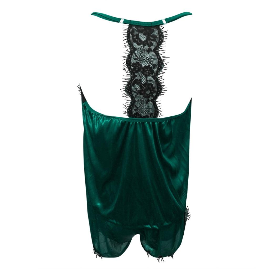 Горячие Для женщин пижамы пижамные комплекты без рукавов ремень кружевной отделкой Satin Cami Top ночное Femme пикантные летние Домашняя одежда