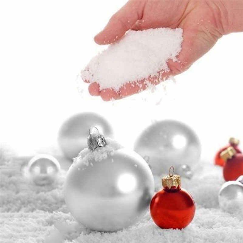 10/5/1 pz Bambino Squishy Neve Artificiale Fiocco Decor Finto Magia Neve Istante Soffici Per Il Natale di Cerimonia Nuziale bianco Neve Decorazione