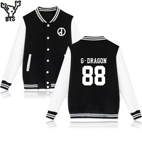 Bigbang Kpop Baseball Sweatshirt Women Korean T O P GD G Dragon Capless Warm Winter Hoodies