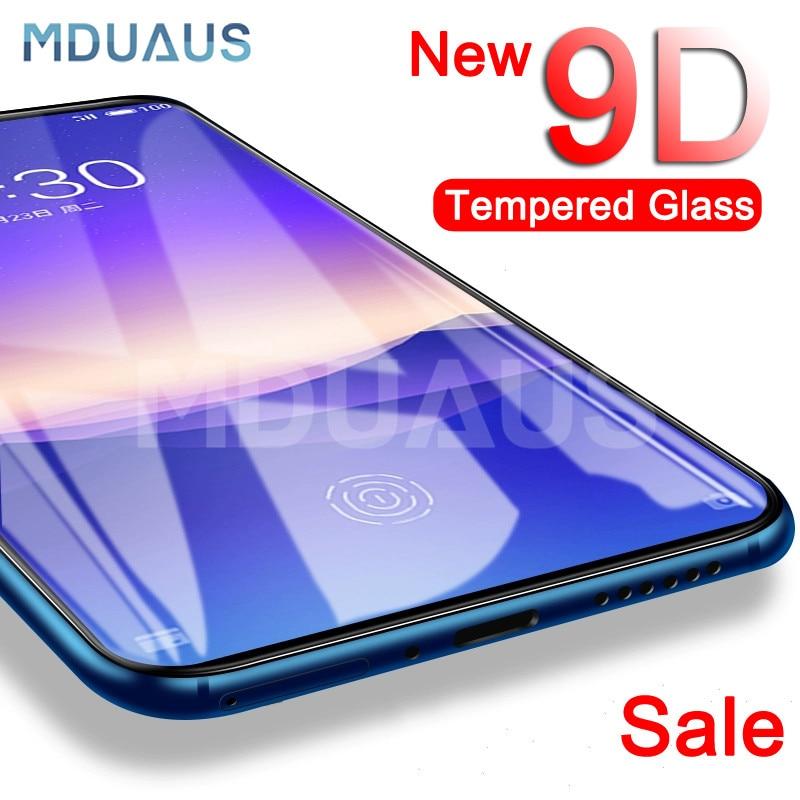 9D verre de protection sur le pour Meizu 16 e 16X15 Lite Plus M15 X8 Note 8 9 Pro 7 Plus protecteur d'écran Film de verre trempé