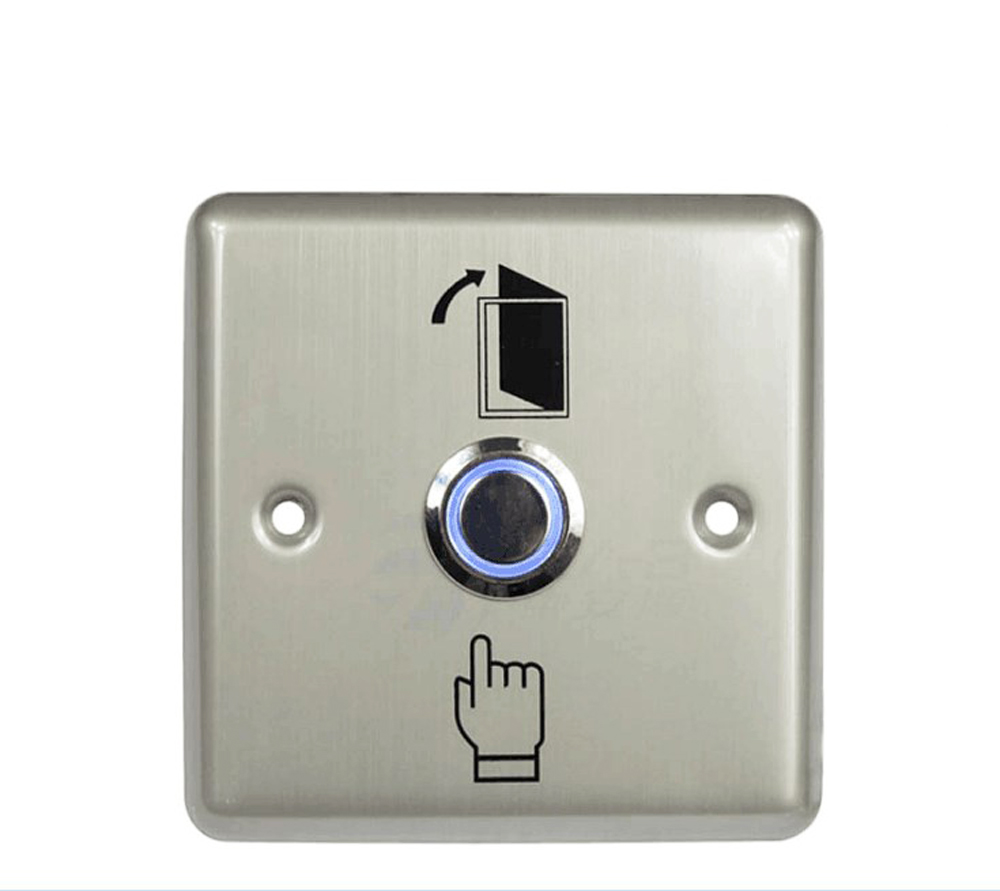 Free shipping high quality stainless steel door release door exit button with blue backlight LED for access control system free shipping door stopper door holders for sale high suction