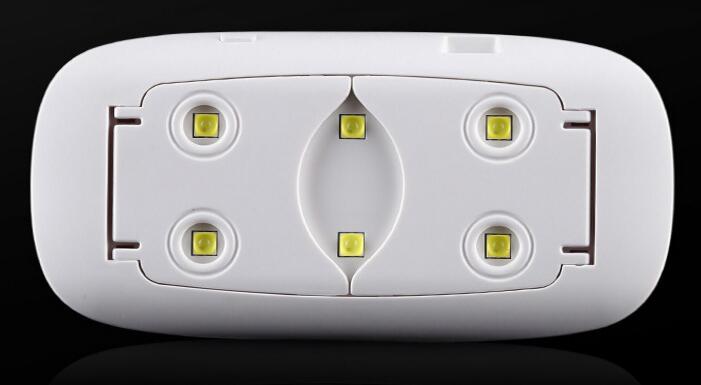 Portable UV Nail Lamp 6W Sun Mini UV Lamp Gel Nail Polish Dryer Mouse Shape LED Nail Lamp