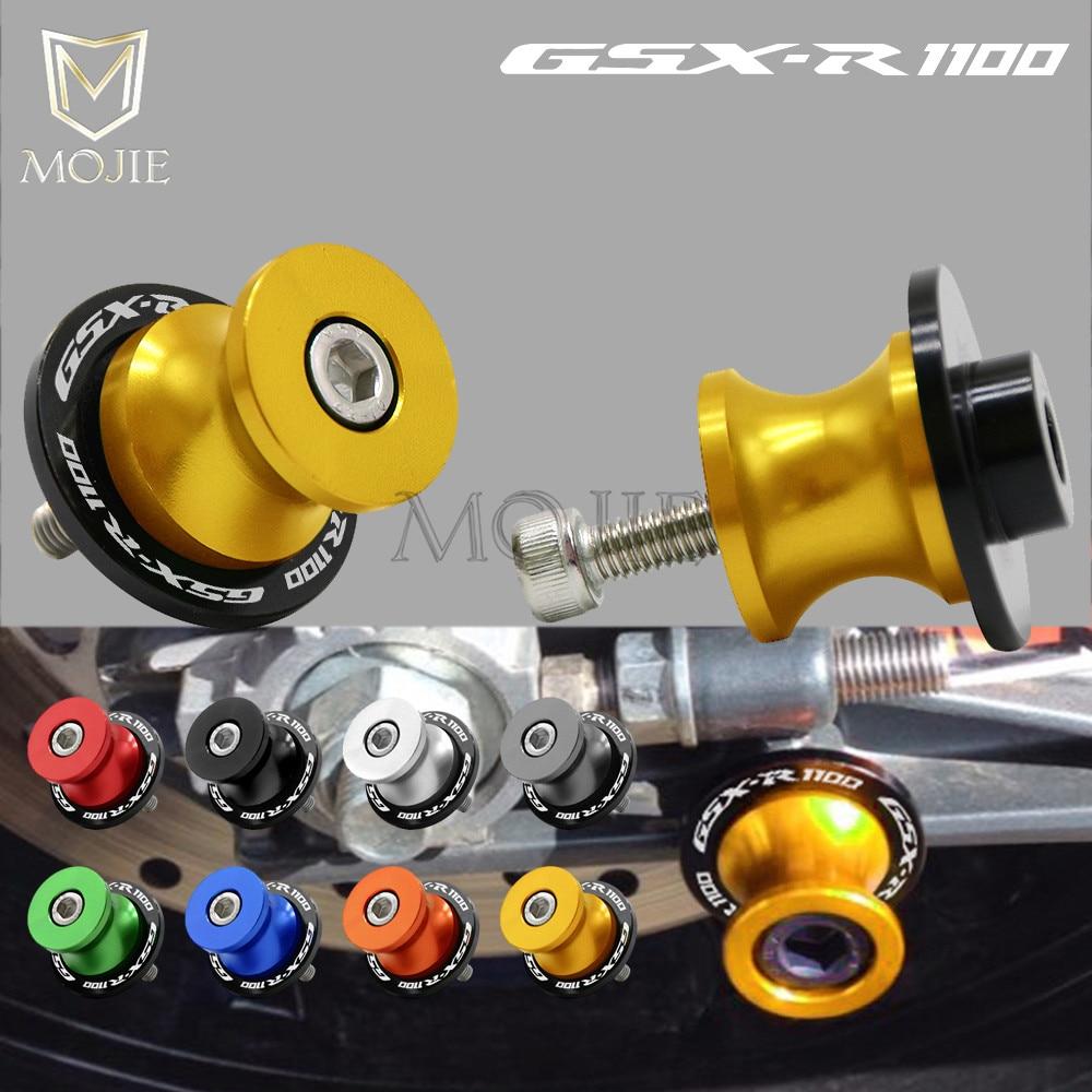 Для Suzuki GSXR1100 GSXR 1100 GSX-R GSX R 1100 1993-1998 8 мм ЧПУ Алюминий мотоциклов маятниковая Катушки слайдер маятниковая Стенд