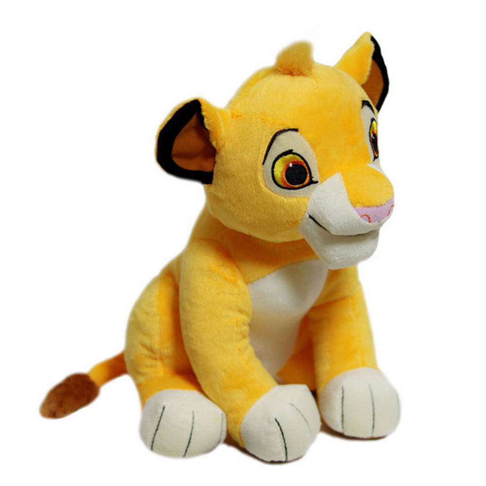 25/30cm Cute Forest Animal Doll Simulation Lion King Fluffy Plush Toys Soft Stuffed  Lovely Doll Children Gifts Kids Brinquedos