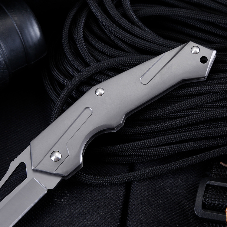 Tactical 55HRC Hardness 3CR13MOV Blade Aviation Aluminum Handle Folding Knife Outdoor Camping Hunting Survival Tools in Knives from Tools