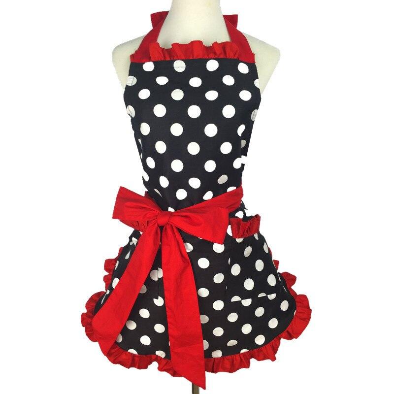 Neue Reizende Vintage Sweetheart Red Bib 100% Baumwolle Schürze Kleid Weihnachten Fashion Flirty Retro Küche Frauen Polka Dot schürze geschenk