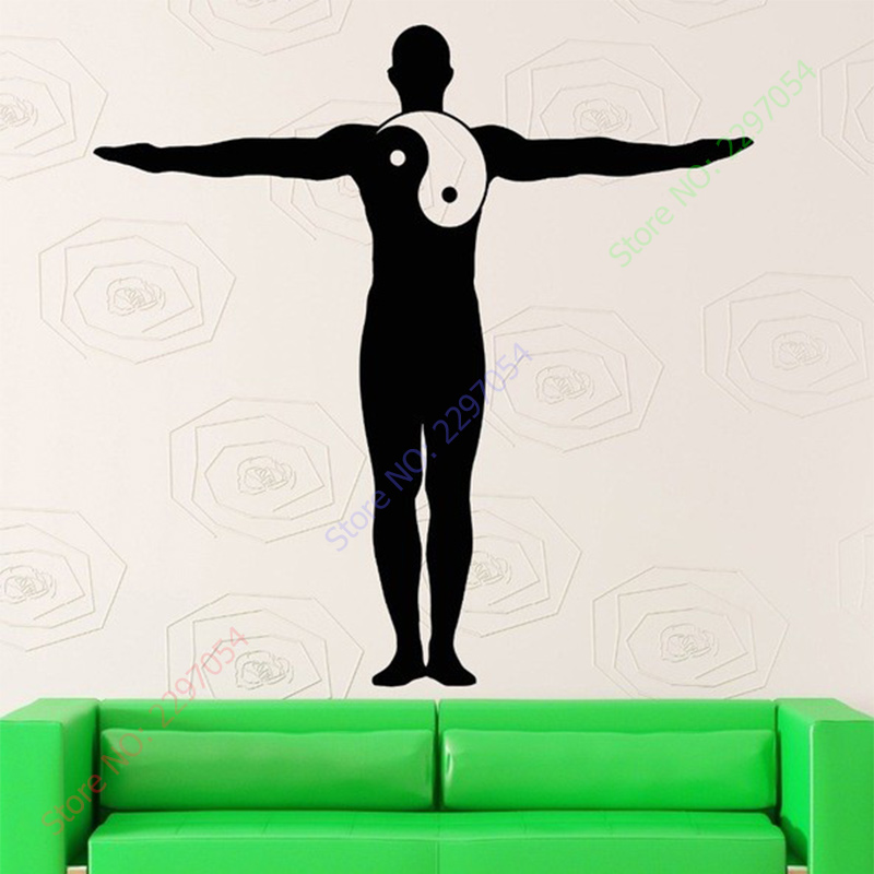 New arrival yoga vinyl decal decal yin yang yoga for Deco mural zen