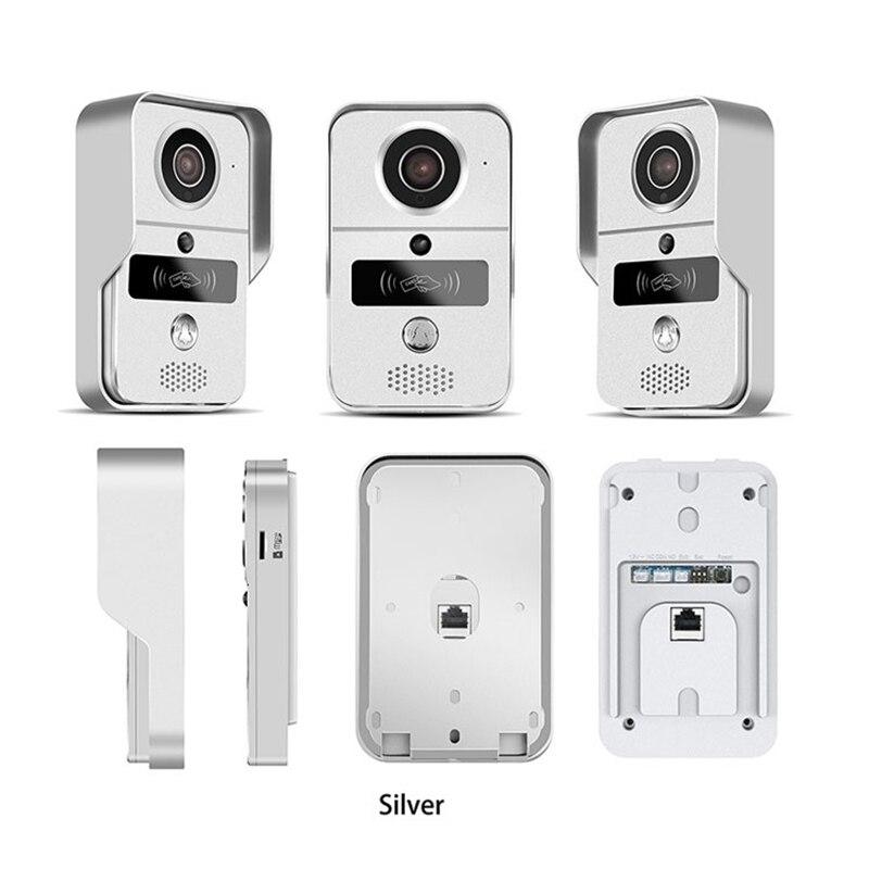 Купить с кэшбэком KONX KW02C 720P H.264 Smart WiFi Video Door Phone intercom Doorbell Wireless Unlock IR CUT Night Vision Motion Decetion Alarm