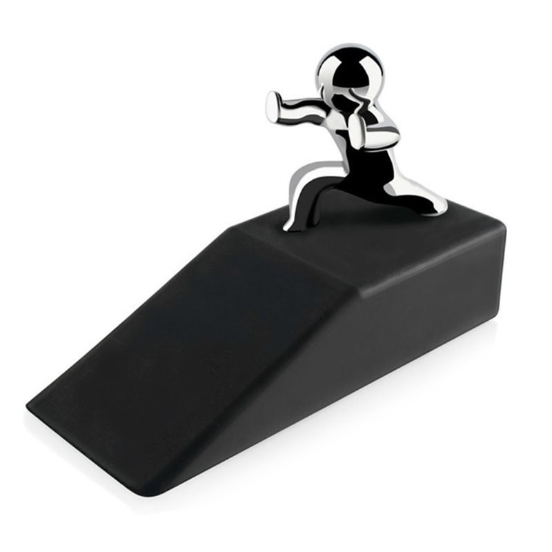 Zinc Alloy Pushing Man Doorman Non-slip Rubber Wedge Base Door Stopper Novelty Buffers Safety For Home OfficeZinc Alloy Pushing Man Doorman Non-slip Rubber Wedge Base Door Stopper Novelty Buffers Safety For Home Office