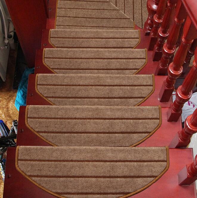 الأزياء 16 قطعة درج السجاد مجموعات مقاوم للانزلاق درج فقي الحصير خطوة البساط ل درج 65X24 سنتيمتر صالح ل 25 سنتيمتر عرض درج سادة-في سجاد من المنزل والحديقة على  مجموعة 1
