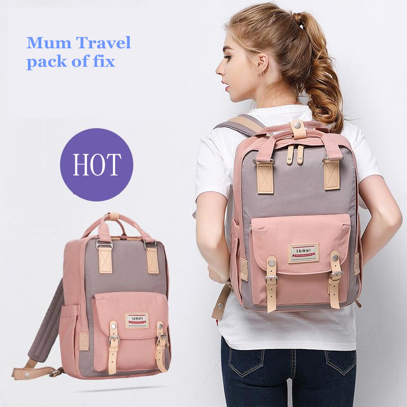 2017 Brand New Lanuched Mummy Bags Big Size Mother & Baby Nappy / կաթ / Bottle / Diaper Backpack Hot Mum Travel Pack of Fix Wholesale