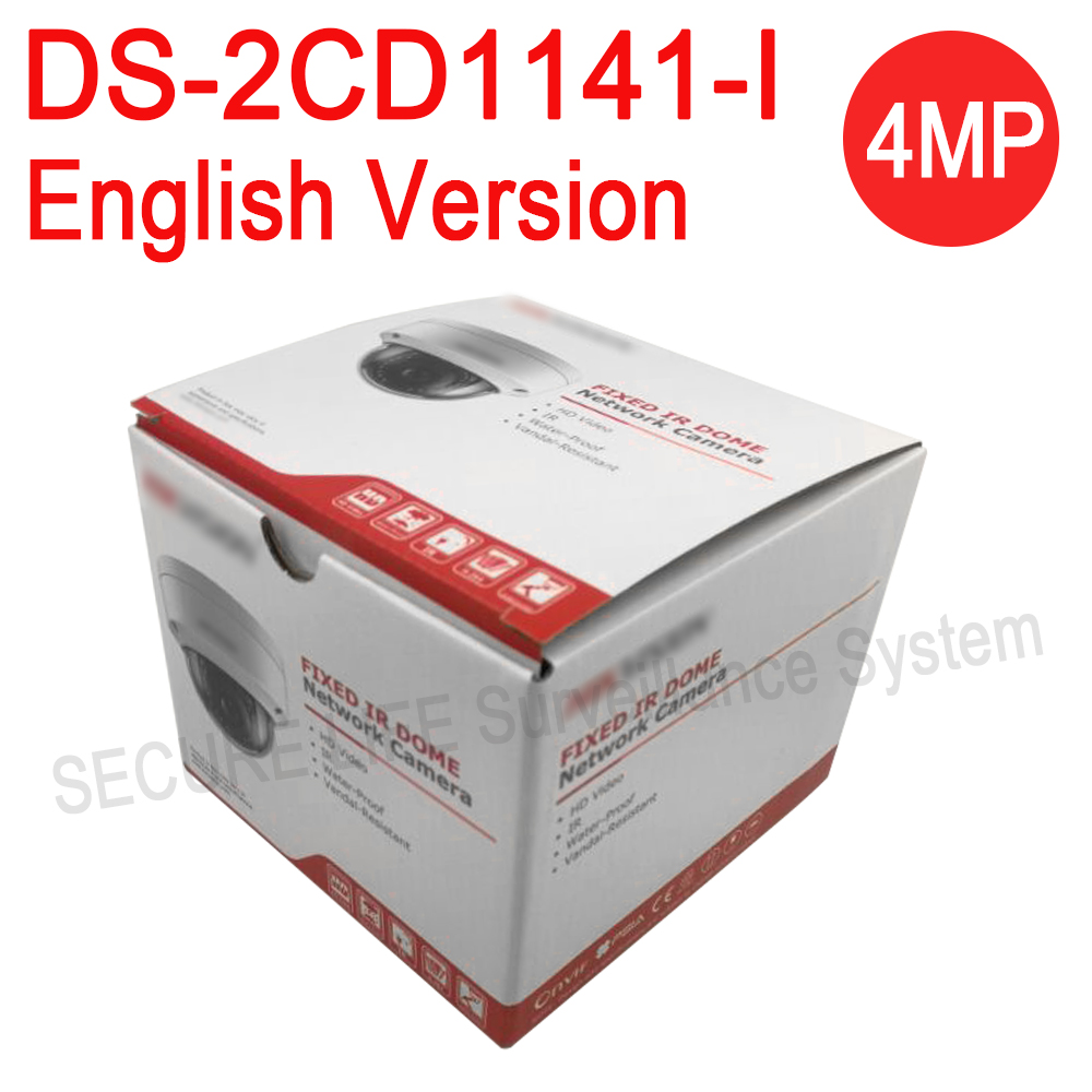 In stock English version DS-2CD1141-I replace DS-2CD2145F-IS DS-2CD2145F-IWS 4MP network dome ip cctv security camera POE IP67 подвесная люстра crystal lux krus sp4 boll
