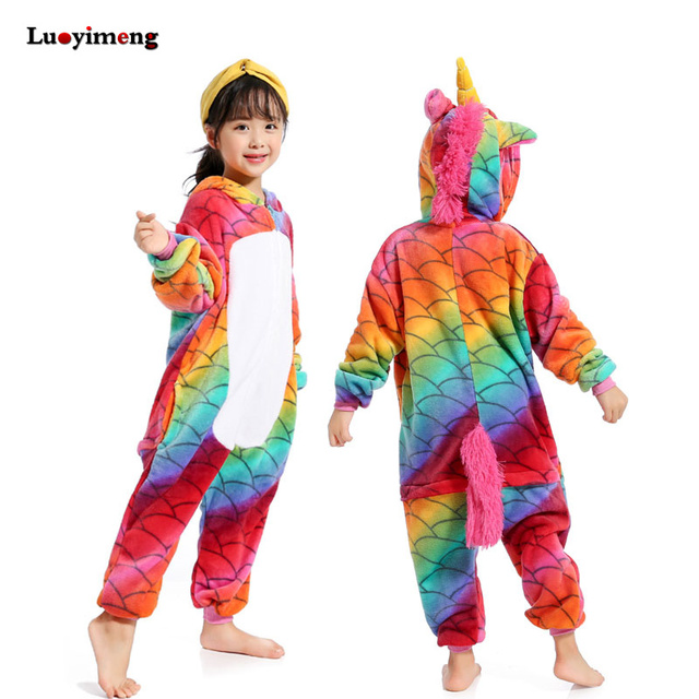 Kigurumi Pajamas For Children Girls Unicorn Anime Panda Onesie Kids Costume Boy Sleepwear Blanket Jumpsuit Baby Licorne Sleepers