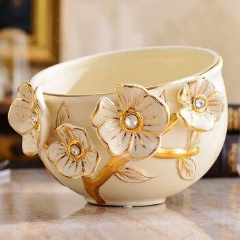Mini Mülleimer | Desktop-papierkorb, Kleine Wohnzimmer, Europäischen Stil Keramik Tisch, Mini Mülleimer, Luxuriöse Abdeckung Ohne Deckel