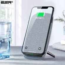 ESR QI 빠른 무선 충전기 10W Qi 빠른 스탠드 애플 아이폰 11 프로 Xs 최대 Xr X 8 삼성 S10 플러스 S10 s10e에 대 한 충전