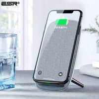 ESR QI Schnelle Drahtlose Ladegerät 10W Qi Schnelle Stand Lade für Apple iPhone 11 Pro Xs Max Xr X 8 für Samsung S10 Plus S10 S10e