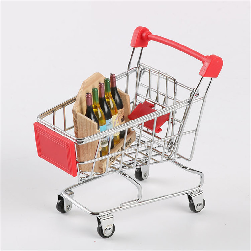 9 Colors Mini Children Kids Handcart Simulation Supermarket Shopping Cart  Baby Pretend Play Toys Stroller For Dolls Pretend Toy
