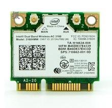 Nuevo para intel wireless ac 3160 3160hmw media mini pci-e tarjeta inalámbrica 802.11 b/a/g/n/ca 2.4g/5 ghz 433 mbps wifi + bluetooth 4.0 tarjeta