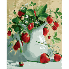WEEN Strawberry-DIY Paint by Number Kits for Adults, Painting Numbers on Canvas ,Acrylic ,Wall Art Picture 16x20inch