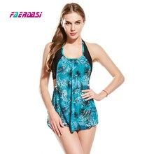 Faerdasi Lace Swimsuit Padded Bathing Suit Retro Vintage Swimwear Mesh Bodysuit S-5XL Plus Size Monokini Floral Print Beachwear