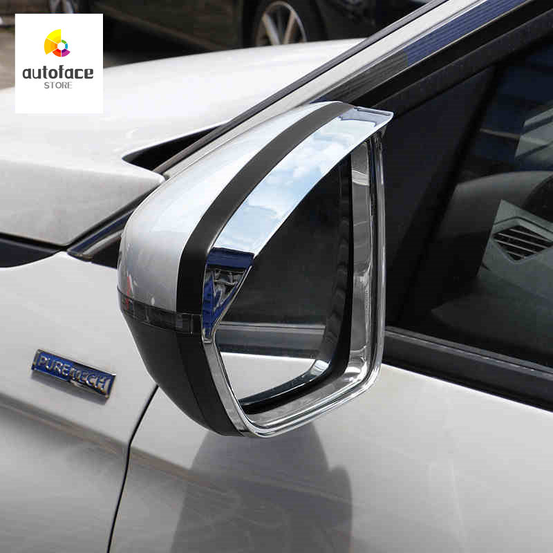 For Peugeot 3008 GT 5008 2 2nd 2017 2018 Car Rearview Mirror Covers Rain Eyebrow Frame Board Rainproof Protection on Accessories