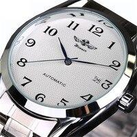 Top Luxury Brand Men automatyczne mechaniczne zegarki na rękę ze stali nierdzewnej Business man Watch męski zegar Business Men Wrist Watch
