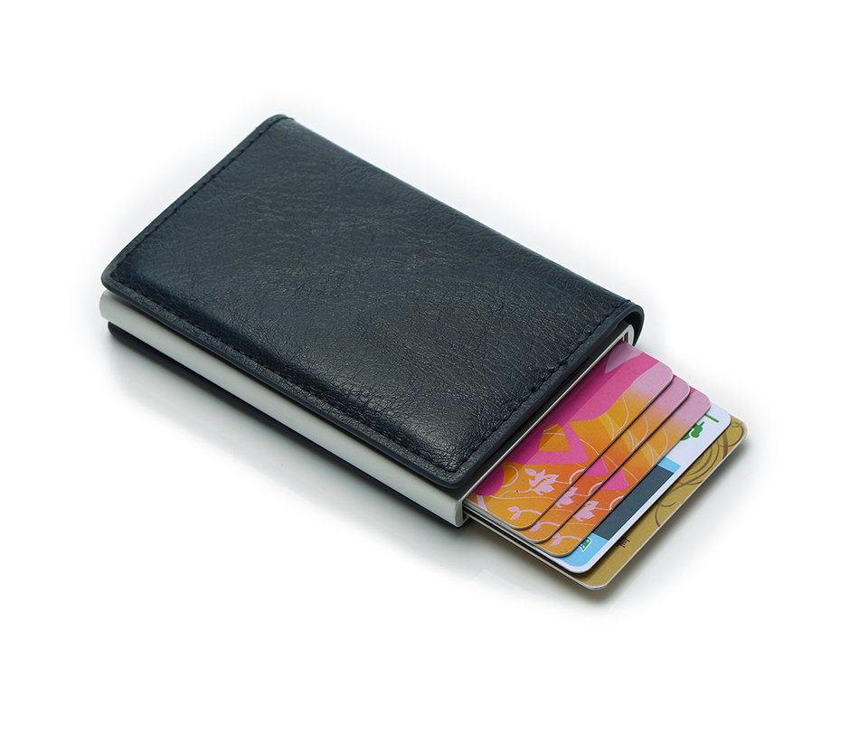 Mens Small Slim Leather Wallets Rfid Card Holder 48