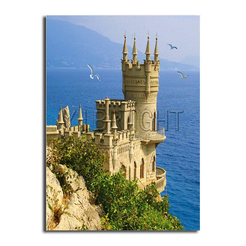 318.39руб. 31% СКИДКА|Алмазная вышивка 5D для рукоделия, Алмазная мозаика с замком и кристаллами, картина с морской башней, квадратная алмазная живопись с крестиком, комплект Y1|5d diy diamond embroidery|diamond mosaic|5d diy - AliExpress