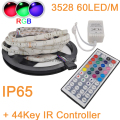 5M or 10M 300LEDs 60LED/M IP65 Waterproof 3528 2835 SMD RGB Fleixble LEDStrip Kit +44Key IR Remote Controller Set for Decoration