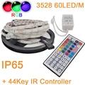 5M or 10M 300LEDs 60LED/M IP65 Waterproof 3528 2835 SMD RGB Fleixble LEDStrip Kit +44Key IR Remote Controller Set for Decoration