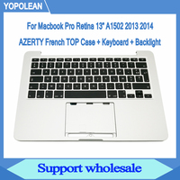 New AZERTY French Top Case + Keyboard + Backlight For Macbook Pro Retina 13 A1502 Late 2013 Mid 2014