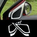 2016 New Car Styling 2PCS/SET ABS Car Front Door Internal the triangle Chromium Plating Sequins For Suzuki Vitara 2016