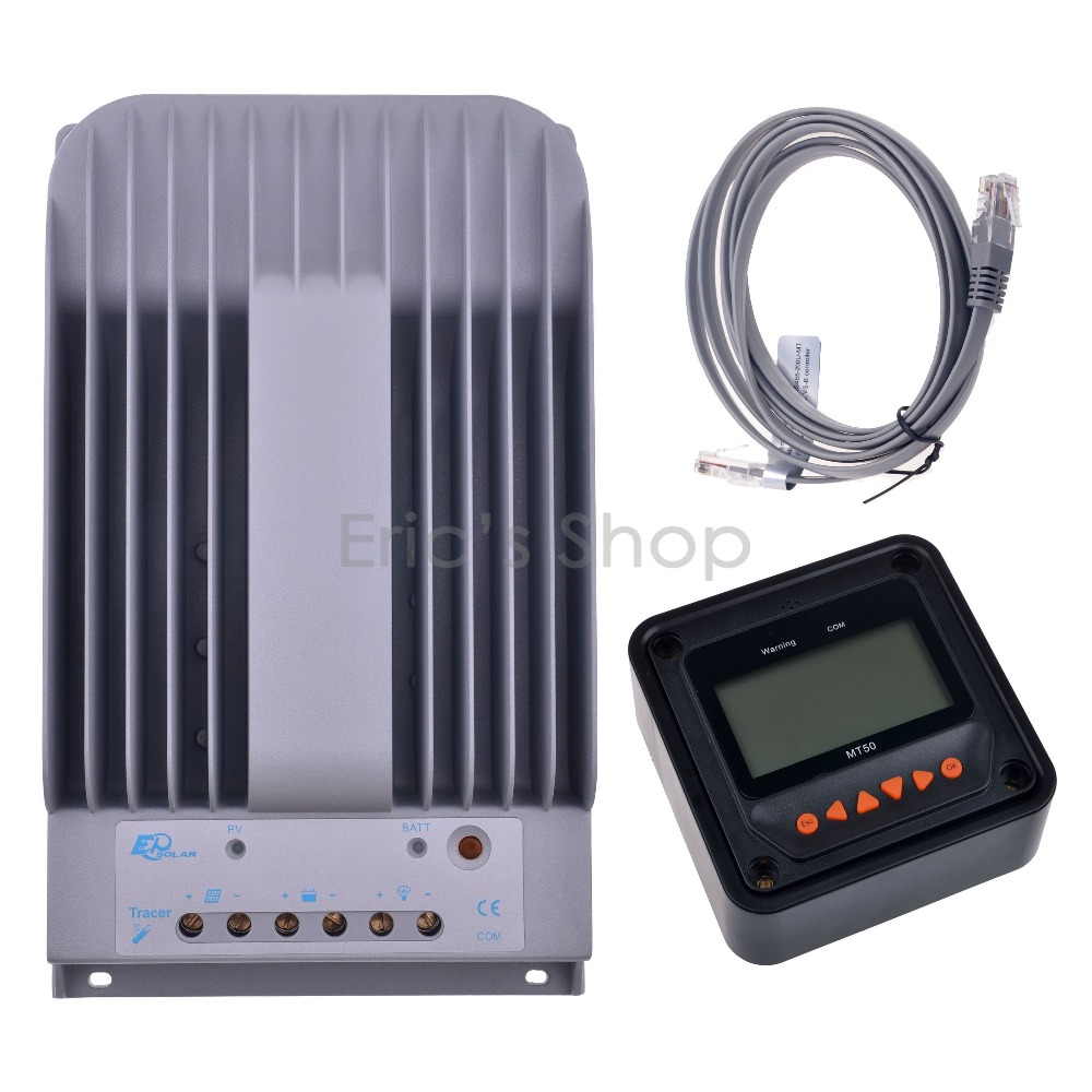 MPPT 30A Solar Charge Controller + Remote Meter MT50 EPSOLAR 30A MPPT 150V PV Battery Panel Regulator 12V/24V DC AUTO Charger 20a pwm duo battery solar panel charge controller regulator 12v 24vdc with remote meter mt1 control solar charger