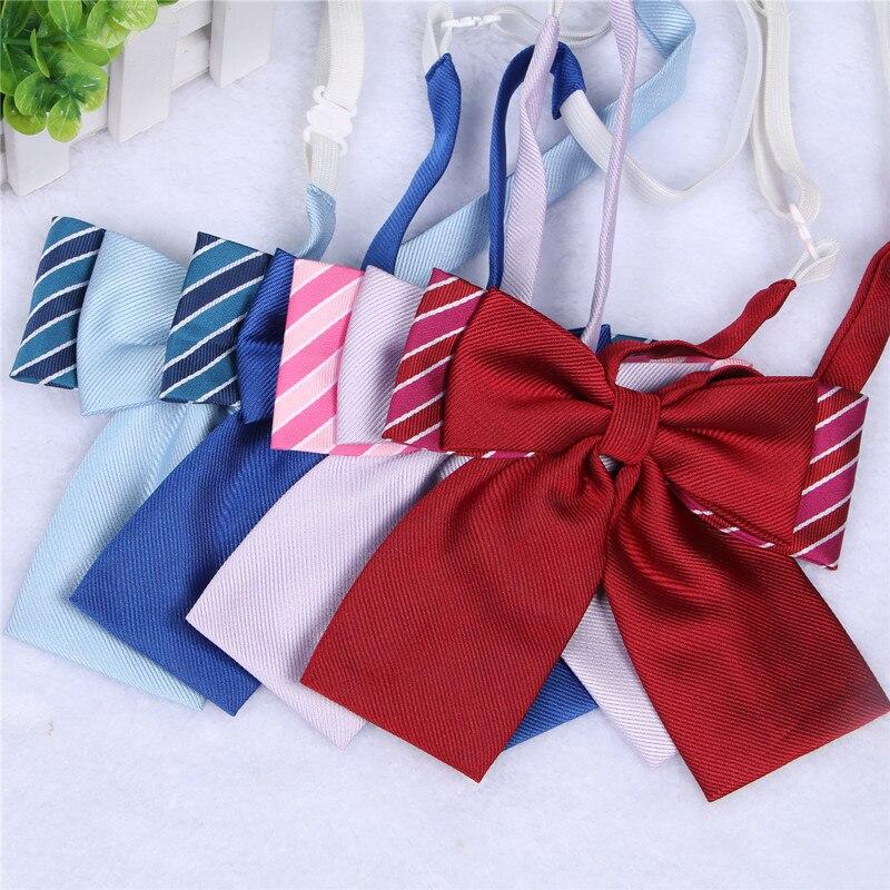 Praktisch Nette Doppelschichten Adrette Frauen Britischen Japanischen Schule Mädchen Jk Uniform Fliege Studenten Krawatte Cosplay 4 Farben Mangelware Krawatten & Taschentücher Bekleidung Zubehör