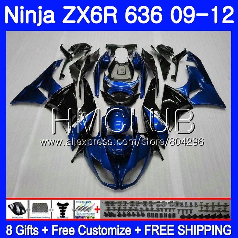Body For KAWASAKI NINJA ZX636 ZX-6R ZX6R 09 10 11 12 15HM.14 ZX 636 600CC ZX-636 ZX 6R 2009 2010 2011 2012 Blue black FairingBody For KAWASAKI NINJA ZX636 ZX-6R ZX6R 09 10 11 12 15HM.14 ZX 636 600CC ZX-636 ZX 6R 2009 2010 2011 2012 Blue black Fairing