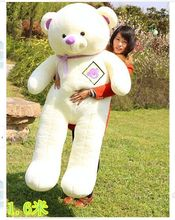 super huge lovely  teddy bear toy big plush teddy bear doll with purple bow large baby bear toy gift about 160cm