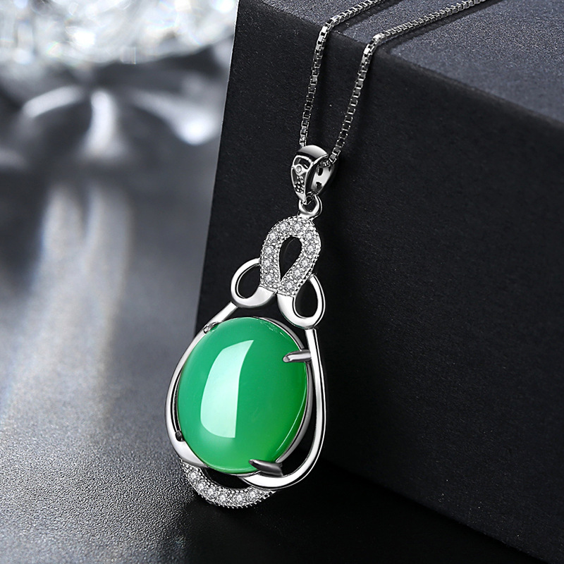 Collar de plata de la joyería de la marca 925 gotas colgante - Joyas - foto 3