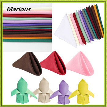 "Marious Brand 100pcs Pieces Multicolor 12"" Square Pure polyester Table Napkin Dinner Pocket Wedding Favor Decoration"