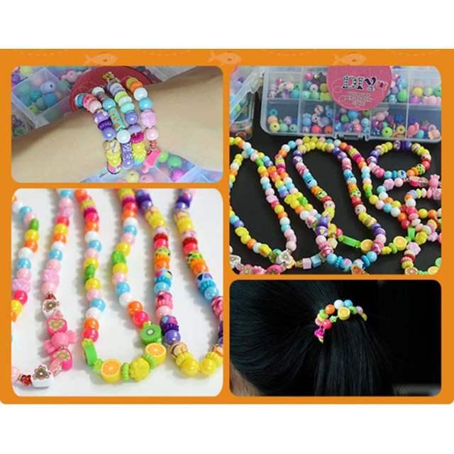 Online Shop Diy Magic Puzzle Fimo Beads Jewelry Box Princess Vanity