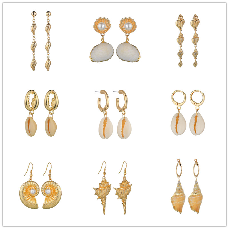 Jewelry & Accessories Gold Color Chain Woven Ball Pendant Earrings For Women Geometric Dangle Earring Bohemian Holiday Fashion Jewelry Accessories