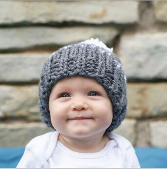 ON SALE 1PC 2016 Baby Kids Snow Hat Winter Wool Knitted Beanie Ball Hats For Children Apparel Accessories Hat Christmas Gift