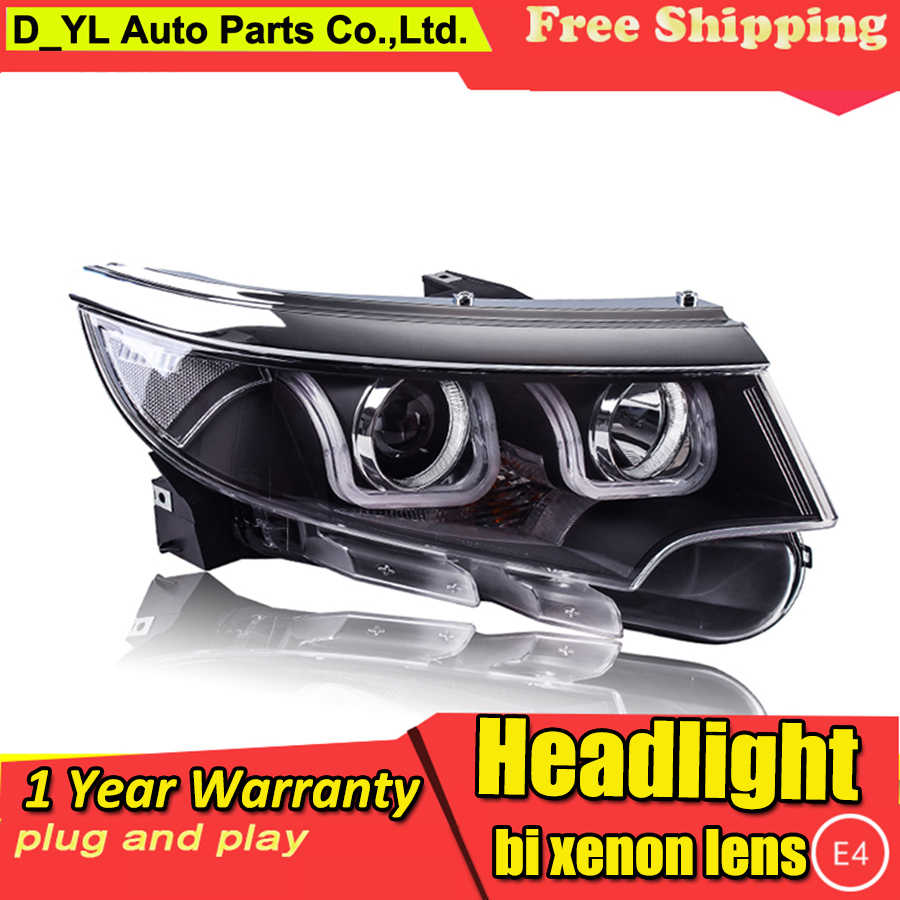 Car Styling Headlights for Ford Edge 2012-2014 LED Headlight for Edge Head Lamp LED Daytime Running Light LED DRL Bi-Xenon HID